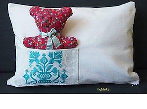 Úžitkový textil - Babka vynkúšik tyrkysové vrecúško - 6695177_