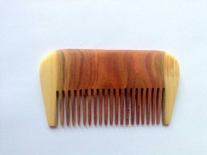 Ozdoby do vlasov - Drevený hrebeň - 6694849_
