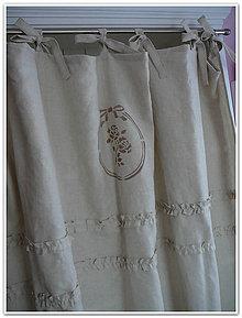 Úžitkový textil - Lněný závěs latte š.120xd.150cm - 6696668_