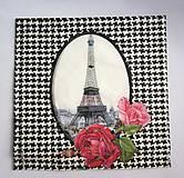 - Servítka RM1- Paríž a kvety - 6696409_