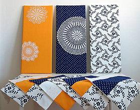 Úžitkový textil - folk obrazy a vankúše - folk rodinka 9 členov :) - 6693392_