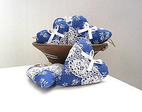 Darčeky pre svadobčanov - Srdiečka folk...modré - 6695772_