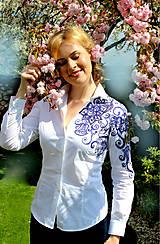Košele - Maľovaná dámska blúzka... - 6695768_