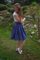Sukne - Modrá bodka - 6695051_