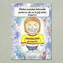 Papiernictvo - Zápisník jedál s vtipným citátom ,,Dokonalá postava