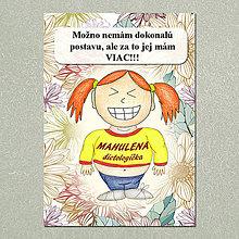 Papiernictvo - Zápisník jedál s vtipným citátom ,,Dokonalá postava\