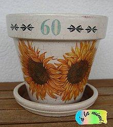 Nádoby - Kvetináč k narodeninám 60 - 6701054_