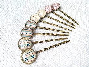 Ozdoby do vlasov - Vintage hair pins - 6699722_