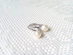 Náušnice - River pearls earrings (Silver) - 6700199_