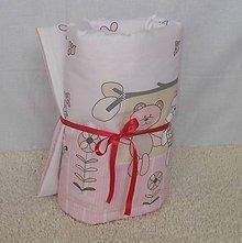 Úžitkový textil - Letná prikrývka 135x100-Za ružovým plotom - 6697622_