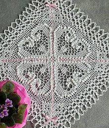 Úžitkový textil - Biele srdiečka - 6700207_