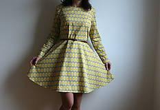 Šaty - Retro žlté šaty - 6700398_