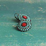 ..red&turquoise earrings n.2