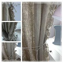 Úžitkový textil - Lněný závěs volánkový - 6698066_
