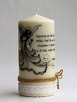 Svietidlá a sviečky - Vintage štýl sviečka - anjel - 6699843_