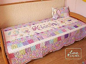 Úžitkový textil - Dievčenský prehoz na postel - 6701120_