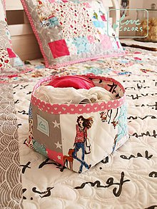 Úžitkový textil - Dievčenský prehoz pre malú fashionistu - 6701471_