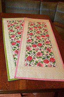 Úžitkový textil - Obrus - štóla ruže - 6697126_