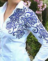 Košele - Maľovaná dámska blúzka... - 6697179_