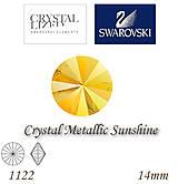 Korálky - SWAROVSKI® ELEMENTS 1122 Rivoli - Crystal Metallic Sunshine, 14mm, bal.1ks - 6698049_