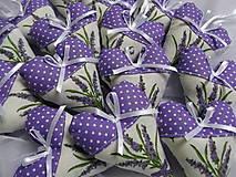 Darčeky pre svadobčanov -  srdiečká levanduľové - 6699484_