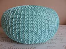 Úžitkový textil - Mentolový puf - 6701178_