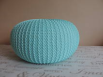 Úžitkový textil - Mentolový puf - 6701182_