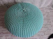 Úžitkový textil - Mentolový puf - 6701183_