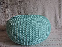 Úžitkový textil - Mentolový puf - 6701186_