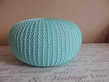 Úžitkový textil - Mentolový puf - 6701199_