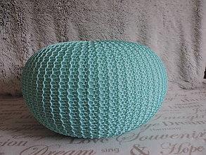 Úžitkový textil - Mentolový puf - 6701188_