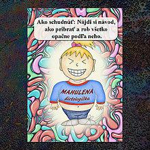 Papiernictvo - Zápisník jedál s vtipným citátom ,,Ako schudnúť\