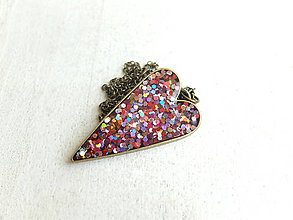 Náhrdelníky - Srdce farebné - 6703071_
