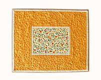 Úžitkový textil - Prestieranie oranžové s bodkami - 6703262_