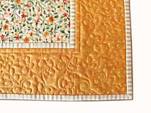 Úžitkový textil - Prestieranie oranžové s bodkami - 6703269_