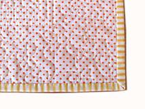 Úžitkový textil - Prestieranie oranžové s bodkami - 6703276_