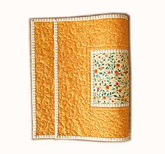 Úžitkový textil - Prestieranie oranžové s bodkami - 6703267_