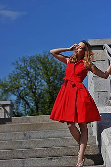 Šaty - Zavinovačky MONA, bez rukávků, vel 34-38, 7 barev - 6703060_
