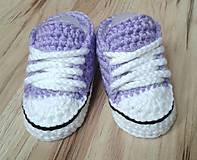 Topánočky - Fialové tenisky s kvetinkou - 6703120_