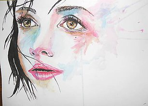 Obrazy - Watercolor, maľba vodovými farbami, akvarel - 6705140_
