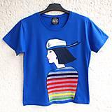 Tričká - Dámské tričko Sailor Girl - 6705436_