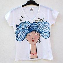 Tričká - Dámské tričko Sea Lady - 6705345_