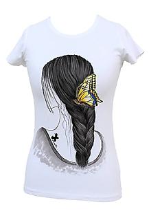 Tričká - Tričko - Dievča s motýľom - 6704237_