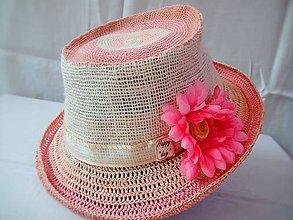 Čiapky - Letný klobúk Romantic. - 6704048_