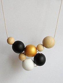 """Náhrdelníky - náhrdelník """"minimal 5"""" - drevo a akryl - 6703001_"""