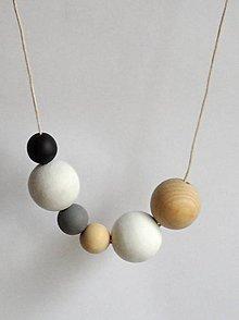 """Náhrdelníky - náhrdelník """"minimal 6"""" - drevo maľované akrylom - 6703820_"""