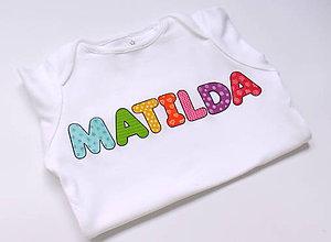 Detské oblečenie - Dievčenské body s menom - 6703675_