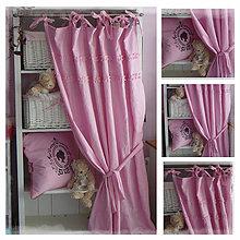 Úžitkový textil - Lněný závěs nejen pro princezničky š.135 x d.160 - 6703502_