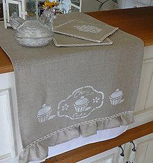 Úžitkový textil - Lněný stolní běhoun...kolekce muffins 153x42cm - 6703579_