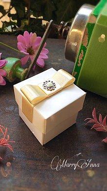 Darčeky pre svadobčanov - Darčeková krabička Ivory - 6704018_